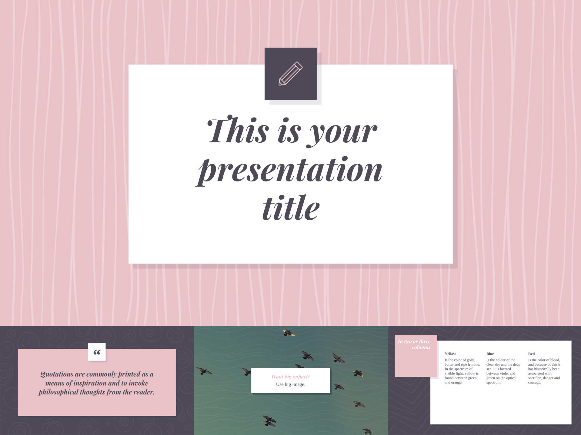 Soft Pink Google Slides Templates Available for Free