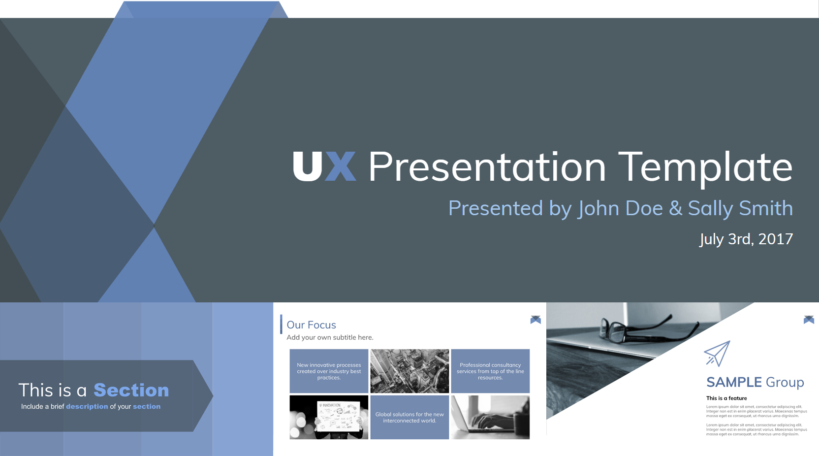 Stylish Free Google Slides Presentation Template