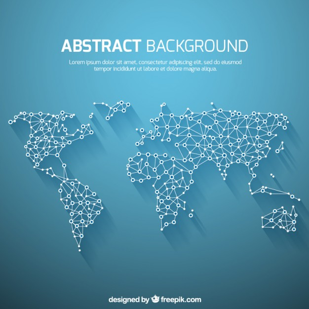 Free world map vector collection 55 different designs graphicmama free world map vector collection over 55 different designs gumiabroncs Image collections