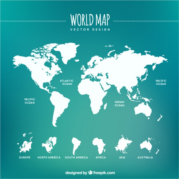 Free world map vector collection 55 different designs graphicmama gumiabroncs Images