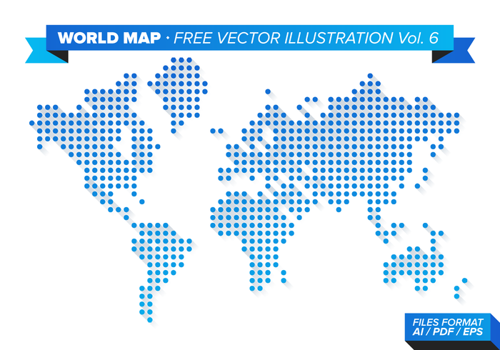 Free world map vector collection 55 different designs graphicmama a vector world map dots design with shadows presented in a soft gradient gumiabroncs Image collections