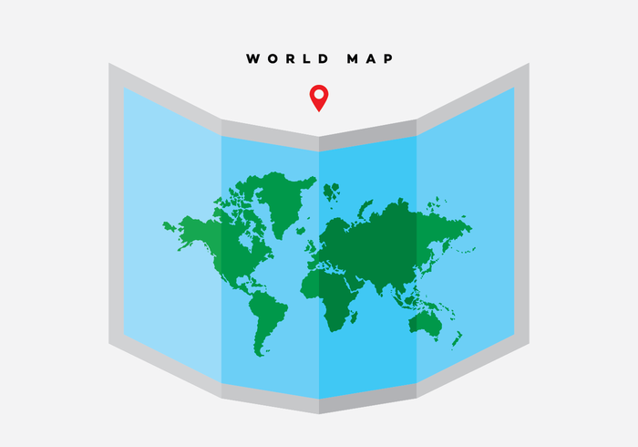 Free world map vector collection 55 different designs graphicmama a world map on a sheet vector 3d design made in flat style and free to download gumiabroncs Image collections