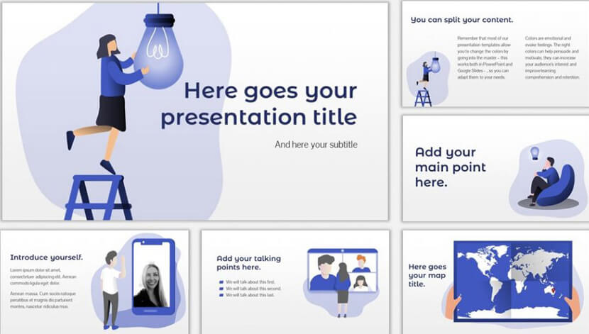 Free Template for PowerPoint and Google Slides Presentations Pole