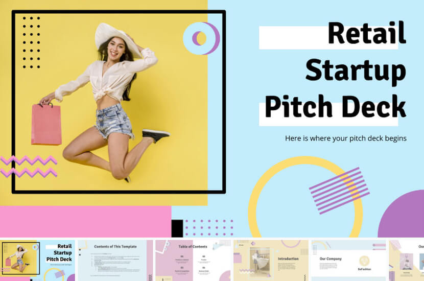 Retail Startup Pitch Deck Presentation – Free Google Slides theme