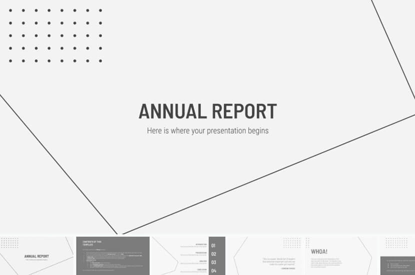 Free Google Slides theme for Annual Report Presentation