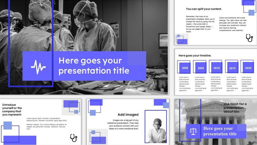 Free multipurpose template for Google Slides