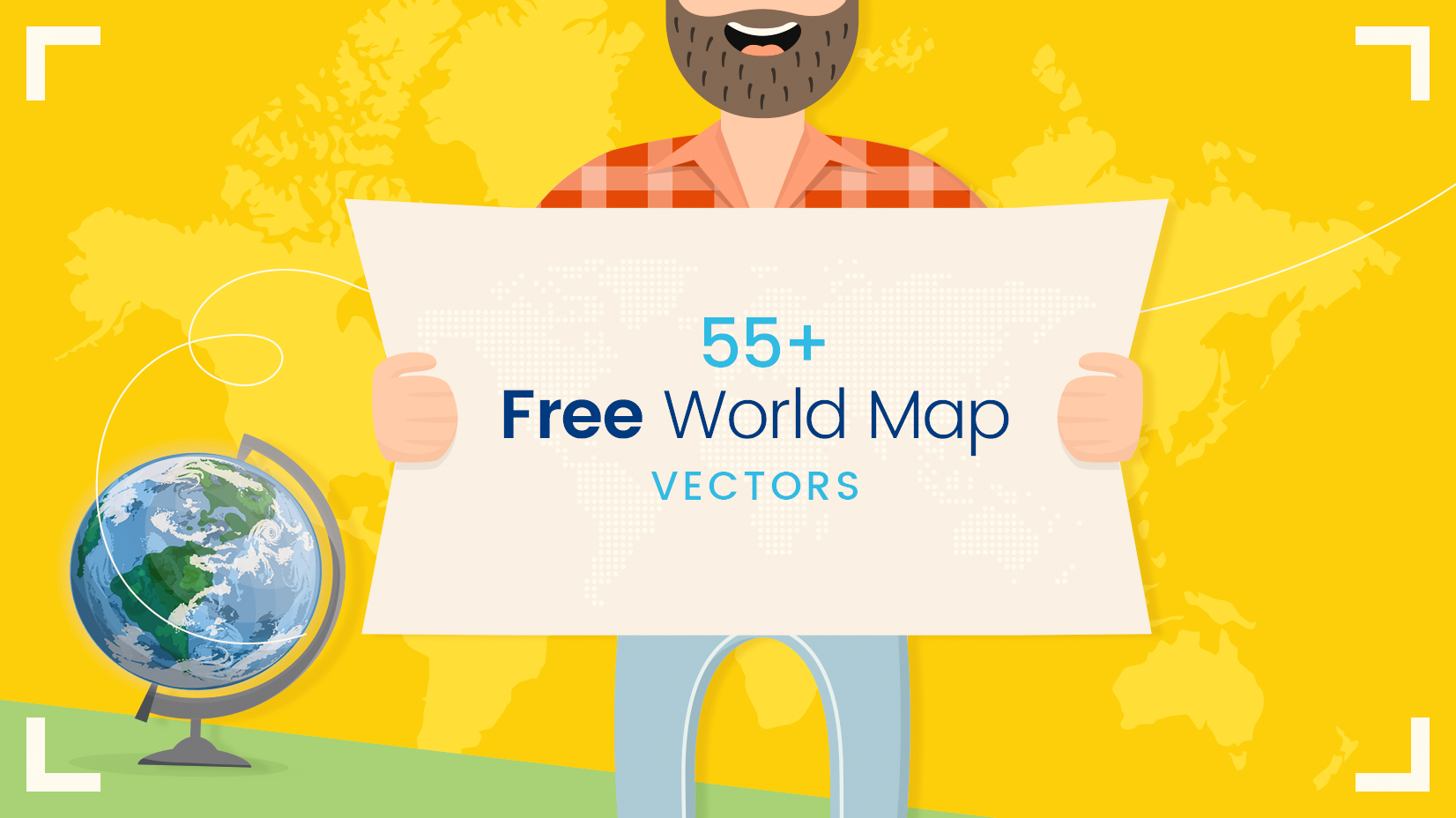 Free world map vector collection 55 different designs graphicmama free world map vector collection over 55 different designs gumiabroncs Images