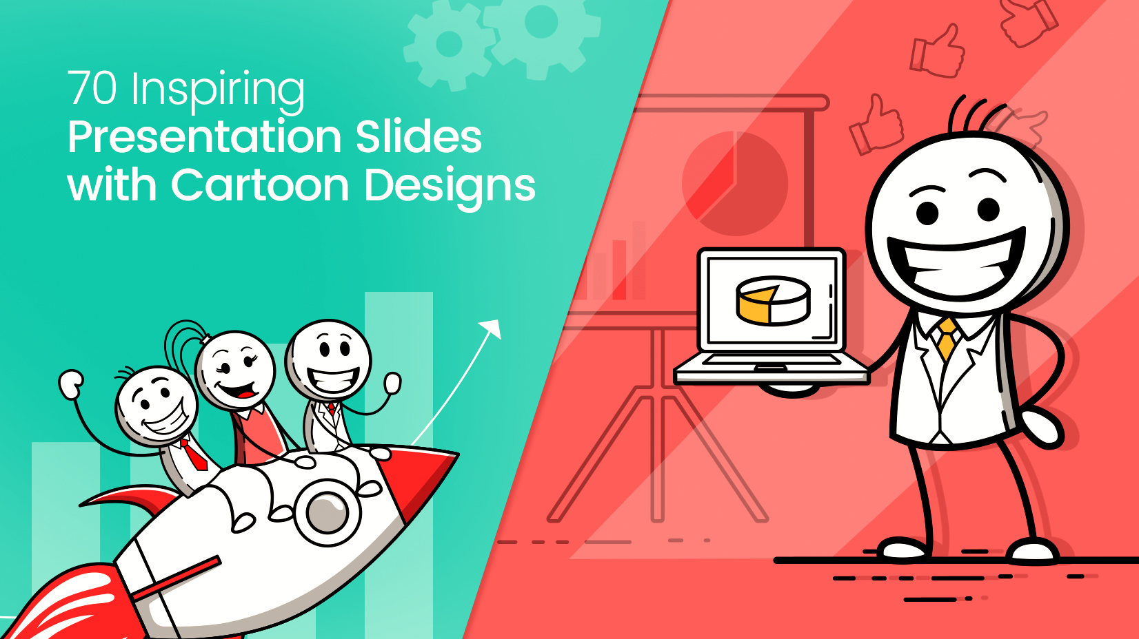 70 Inspiring Presentation Slides with Cartoon Designs