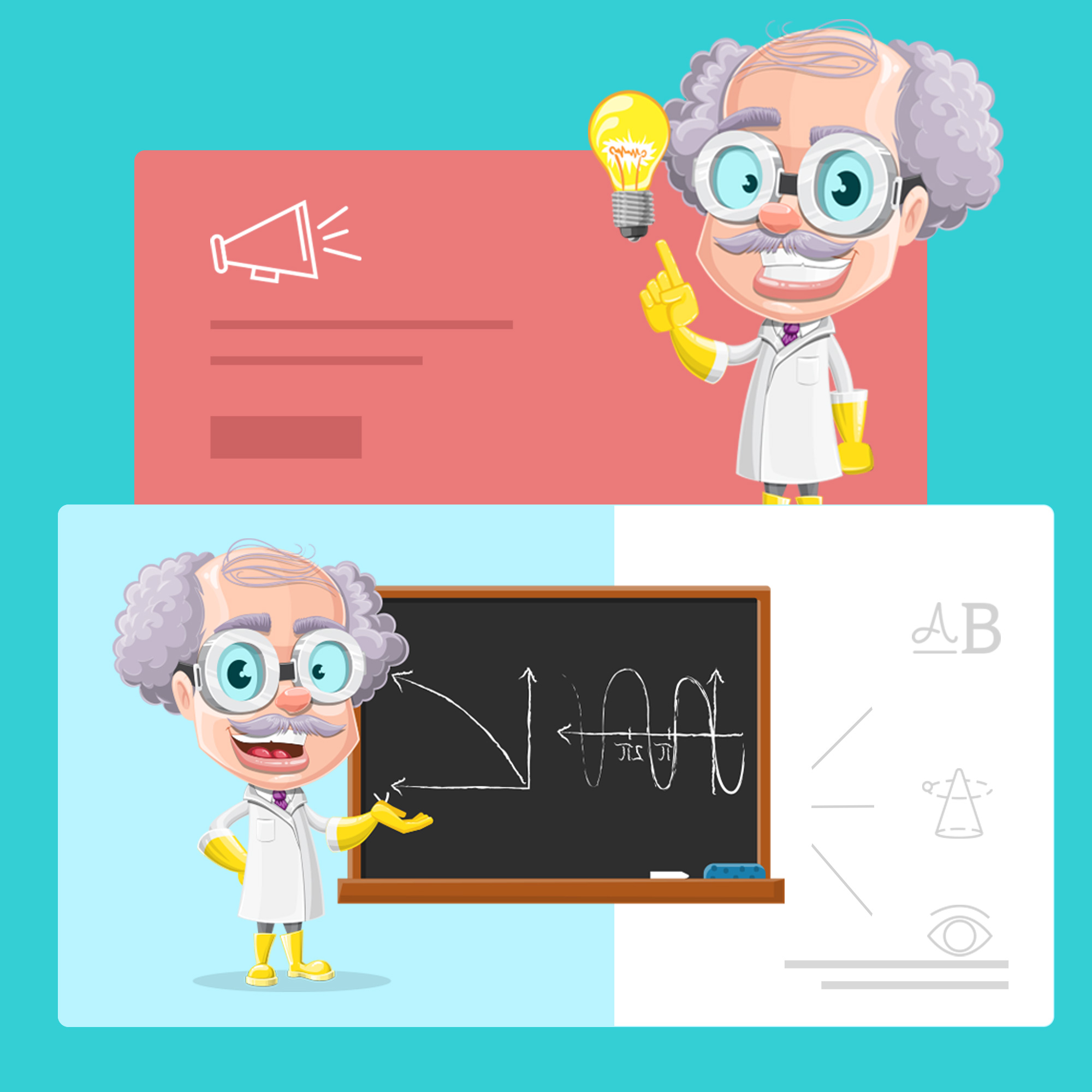 subject matter expert professor cartoon character by GraphicMama