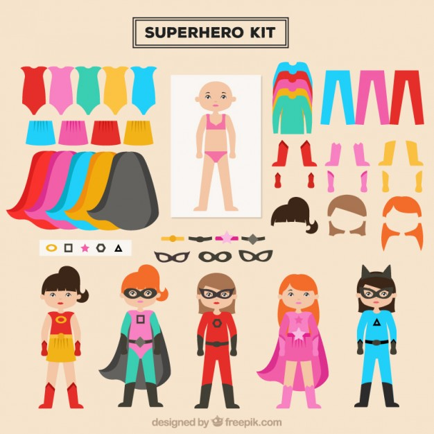 create your own superhero girl character free