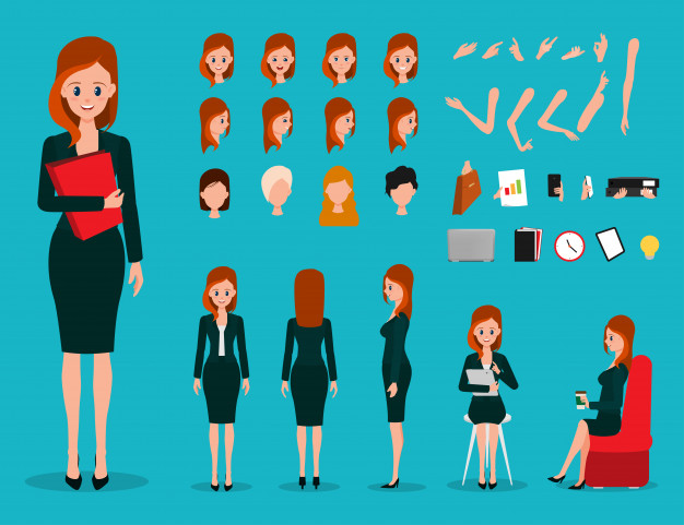 create your own office girl businesswoman