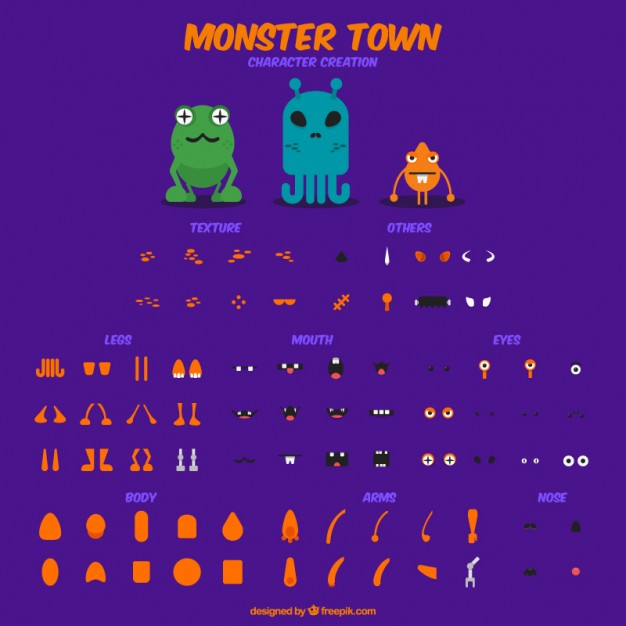 create your own character monster Free