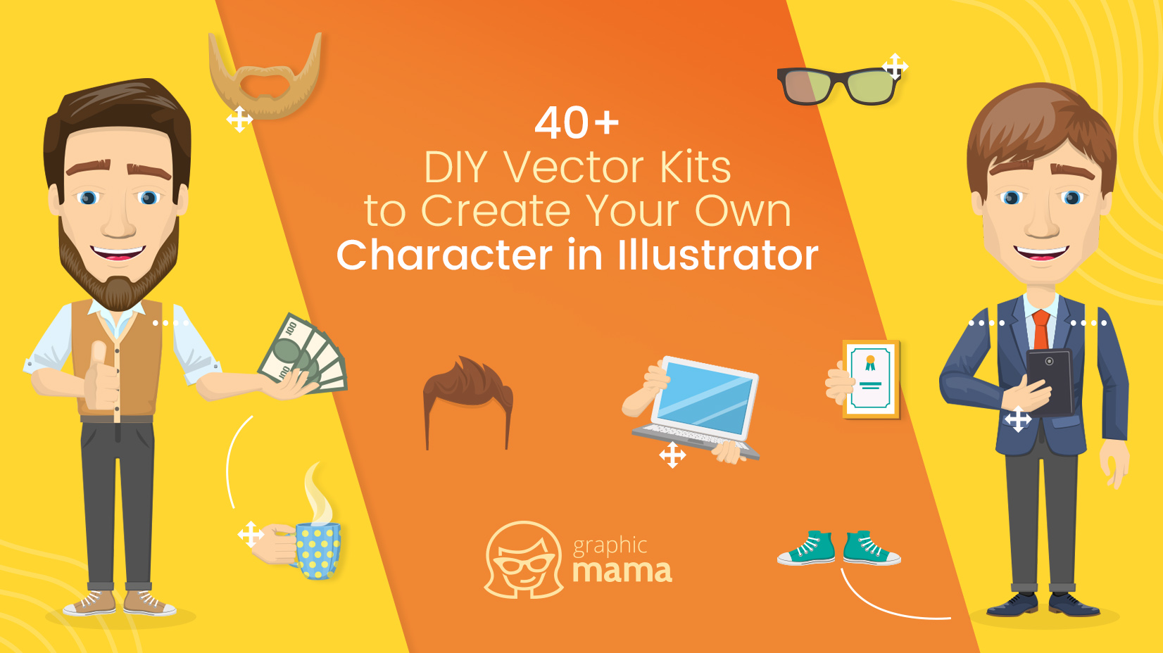 d59c9a360d598 40+ DIY Vector Kits to Create Your Own Character in Adobe Illustrator
