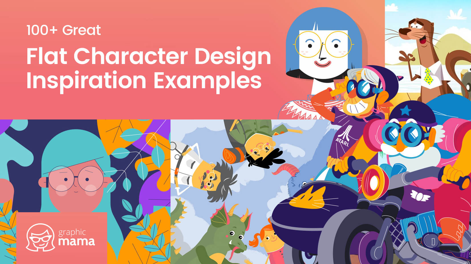 100+ Great Flat Character Design Inspiration Examples