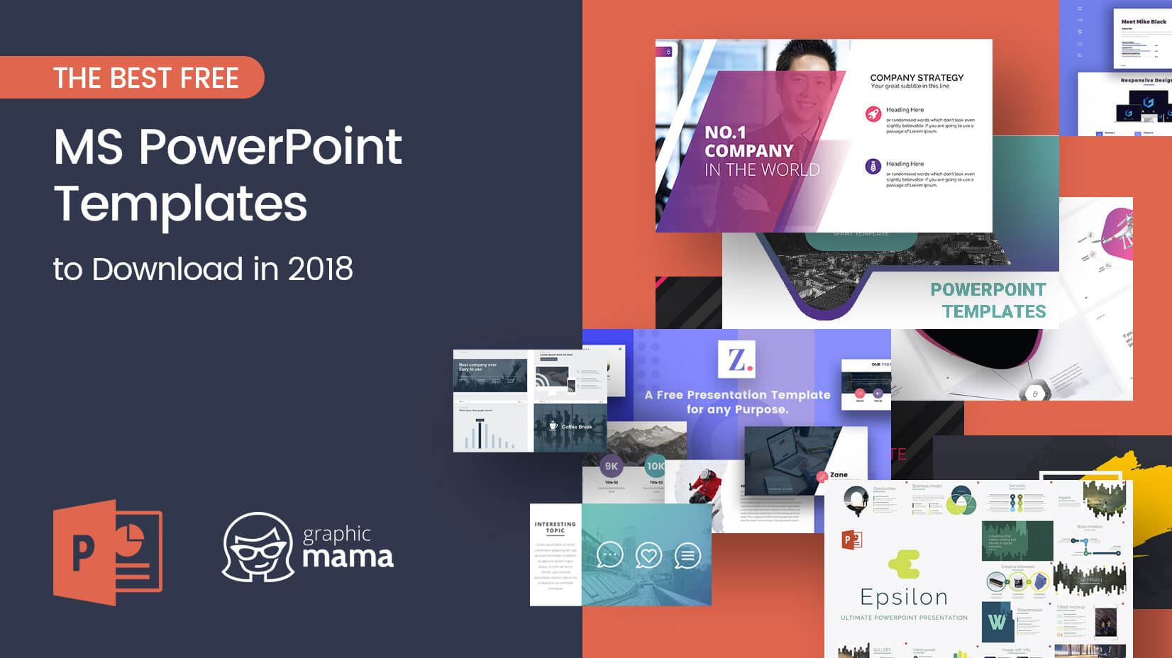 the best free powerpoint templates to download in 2018 | graphicmama, Presentation Template Powerpoint Free Download, Presentation templates
