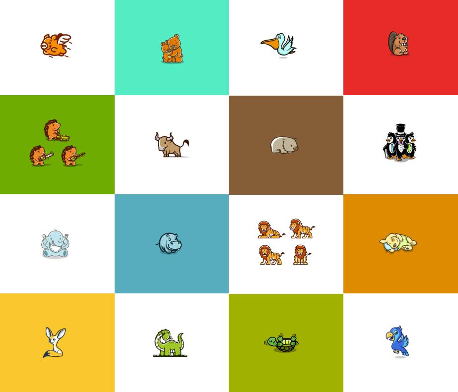 cute animal mascot logos