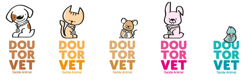 cute animals mascot logos vet