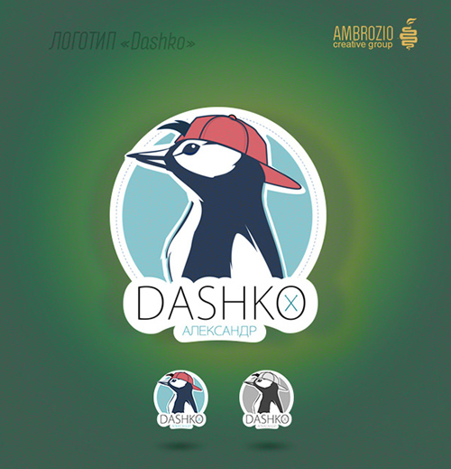cool penguin mascot logo