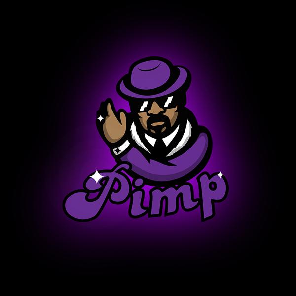 pimp mascot logo