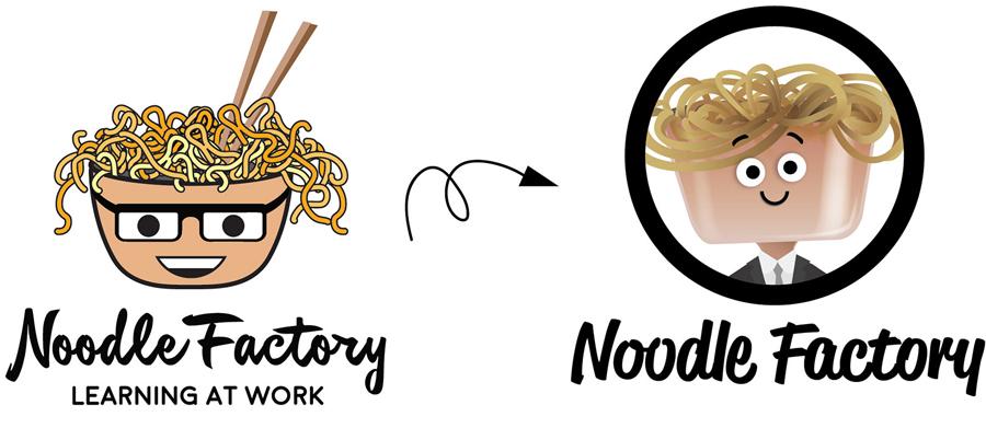 noodle factory mascot logo boy