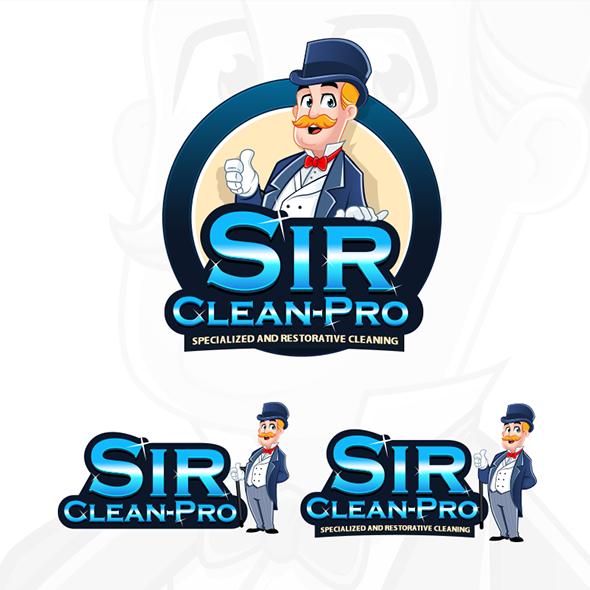 Sir-Clean-Pro-mascot-logo