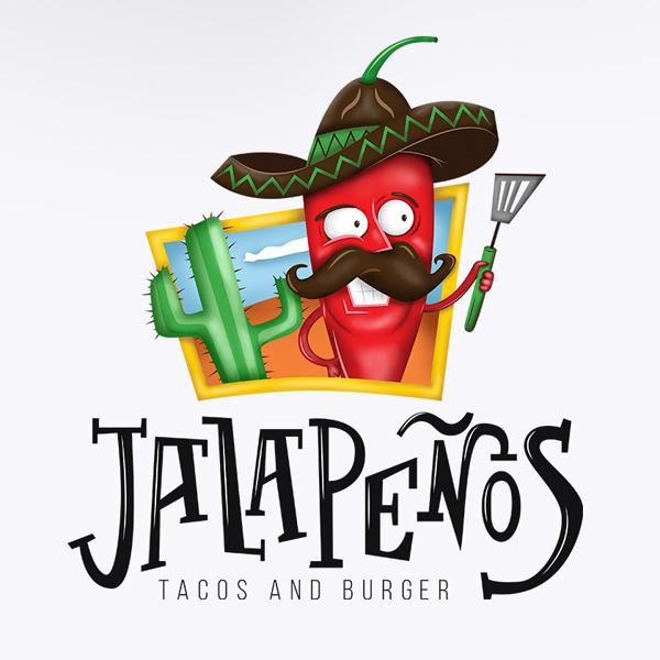jalapenos red pepper mascot logo