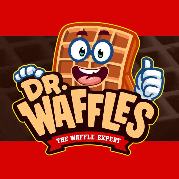 dr-waffles-mascot-logo-design