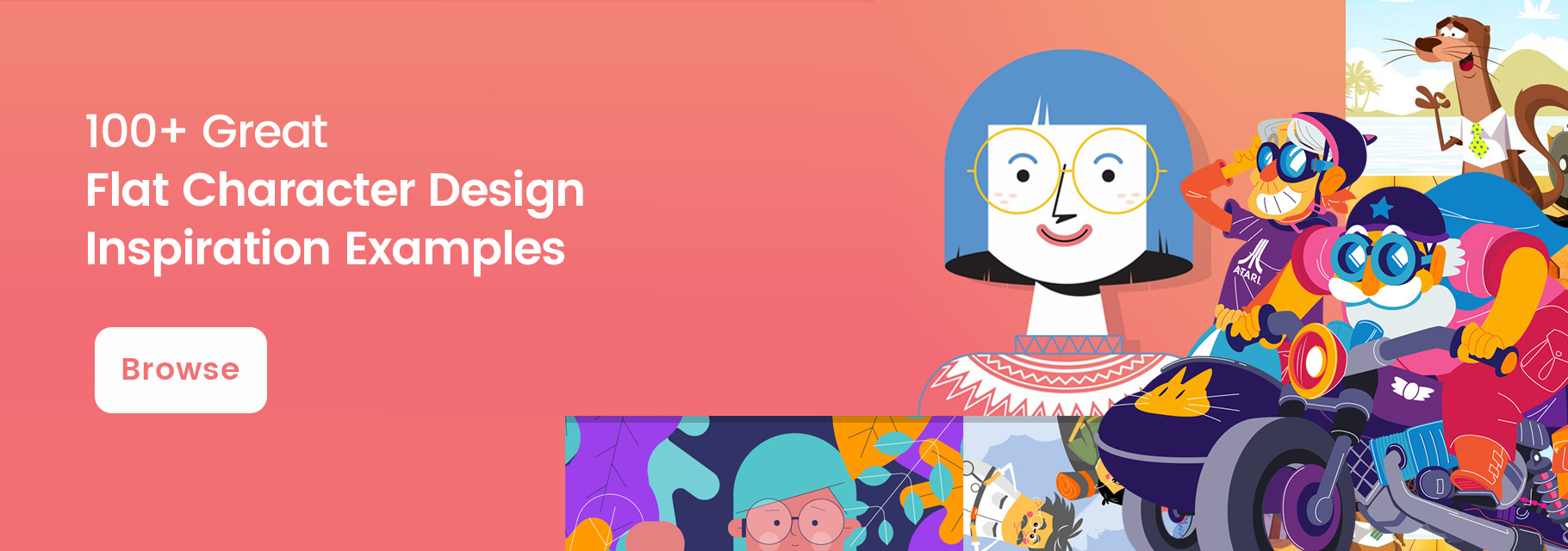 100+ flat character designs collection inspiration