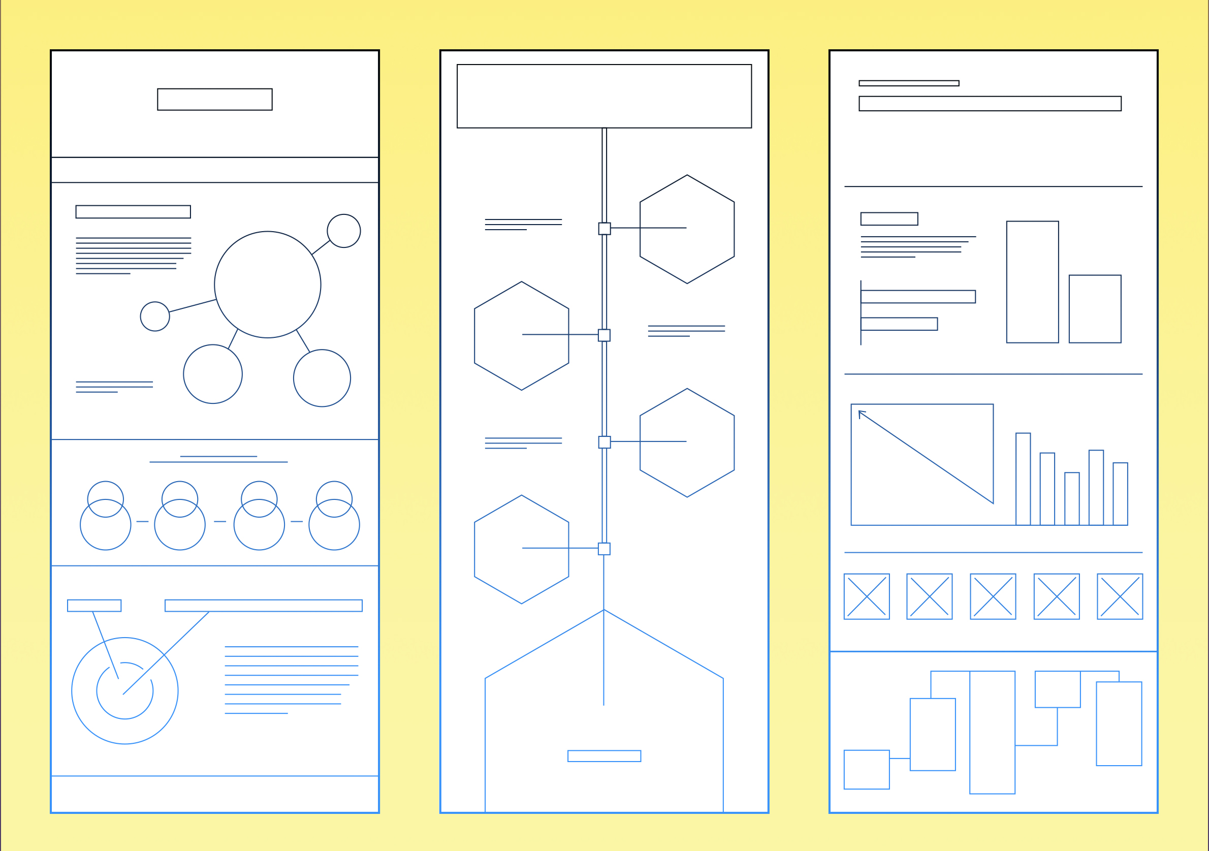 infographic wireframes examples by GraphicMama