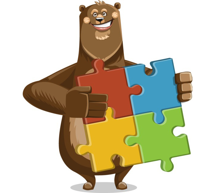 bear character clipart free