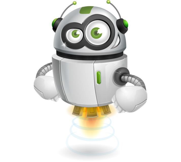 robot character clipart free