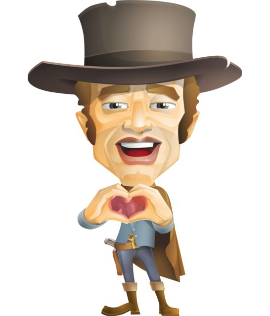 cowboy character clipart free