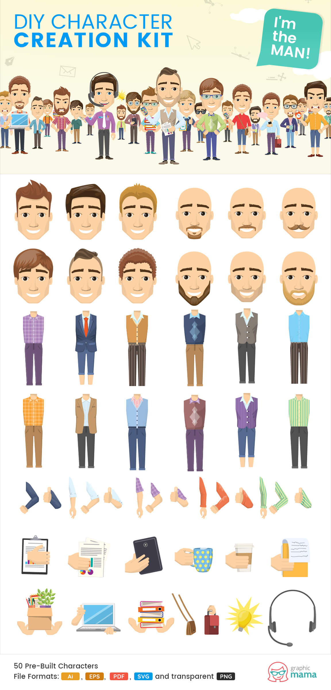 man characters clipart