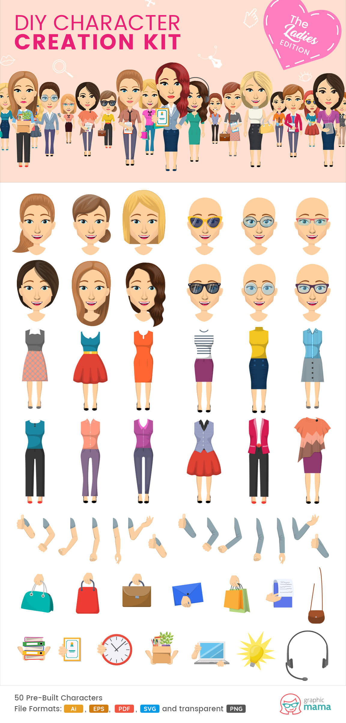 woman characters clipart