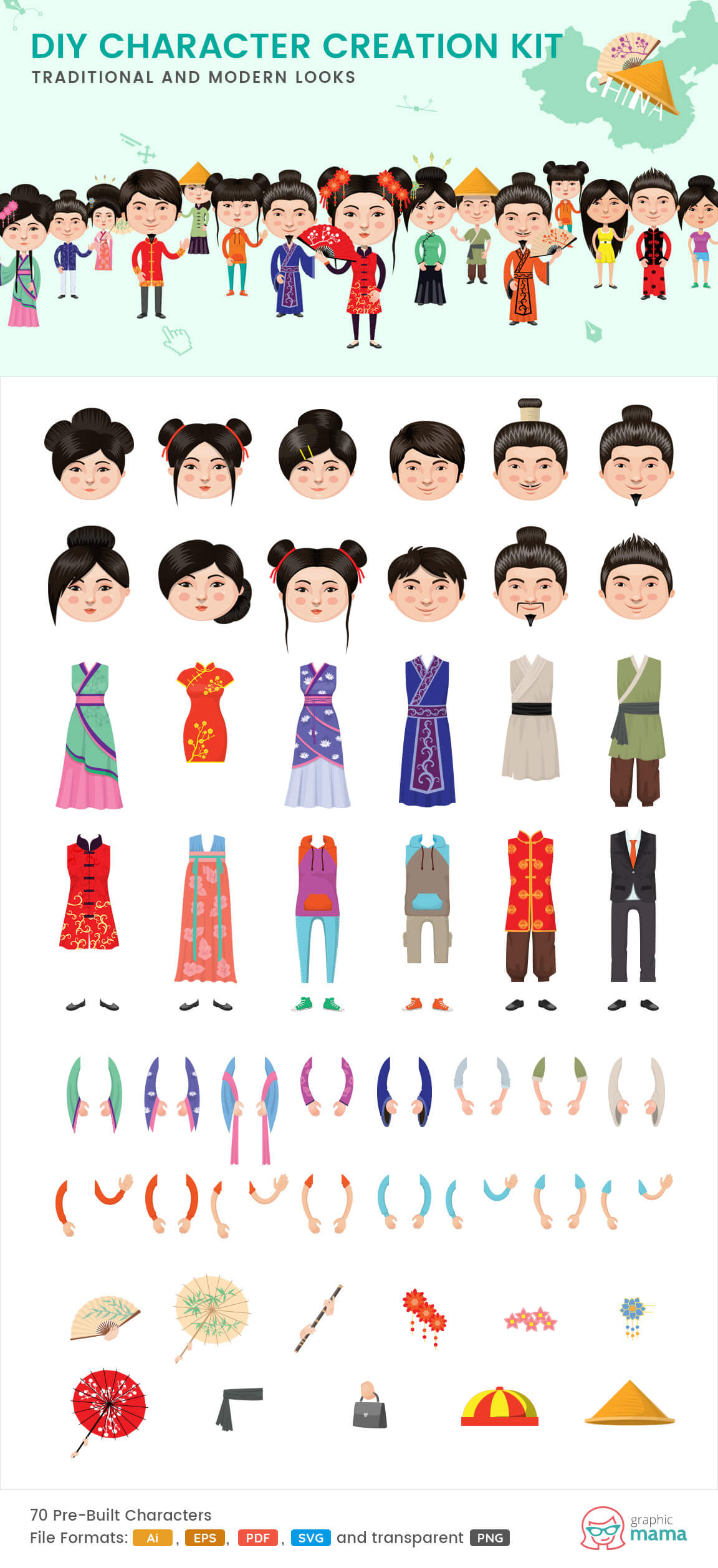 china characters clipart
