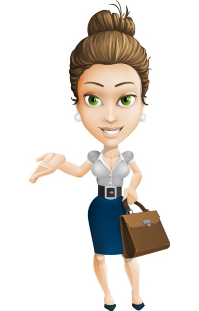 businesswoman character clipart