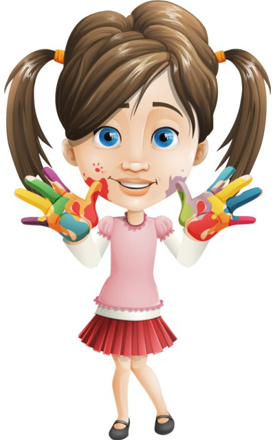 girl child character clipart