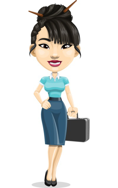 chinese girl character clipart