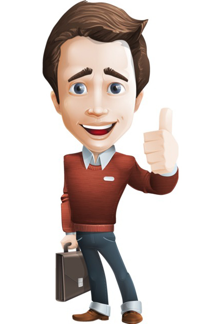 businessman character clipart