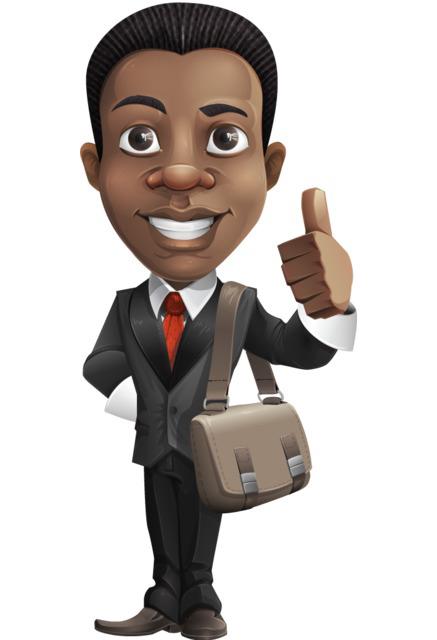 afroamerican businessman character clipart