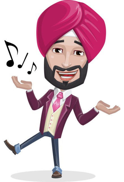 Indian man character clipart