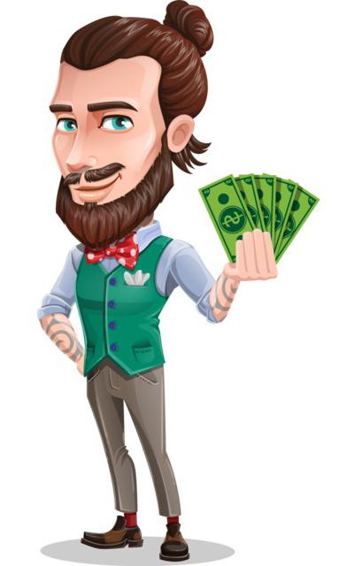 beard character clipart