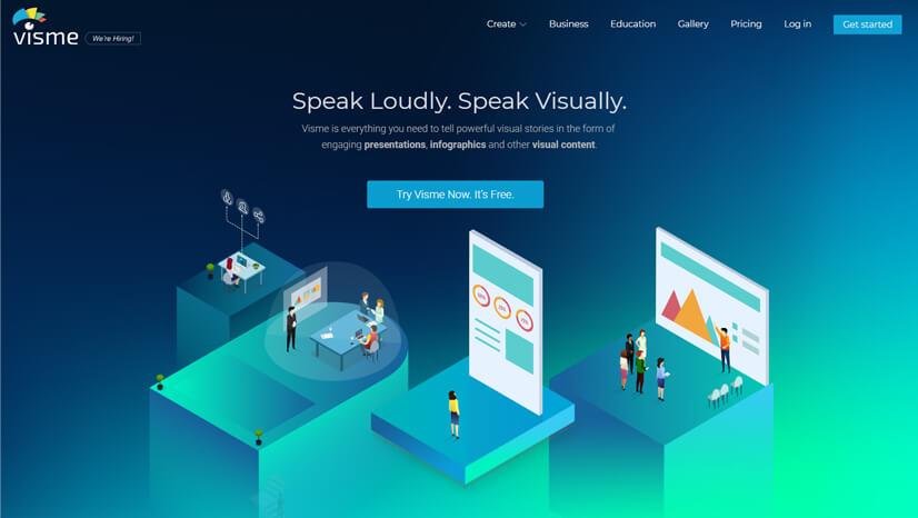 Visme Infographic Creator Tool