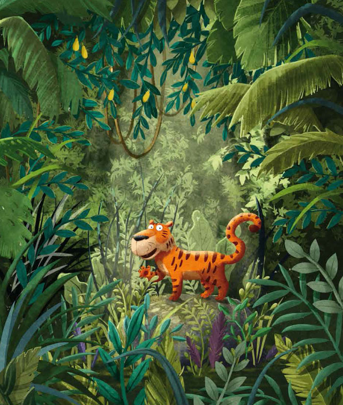 Children Book Illustration cute tiger