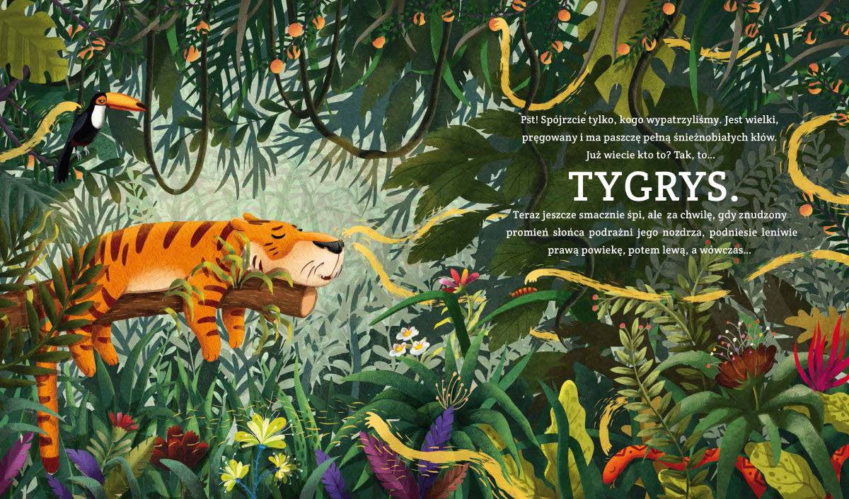 Children Book Illustration to be like a tiger