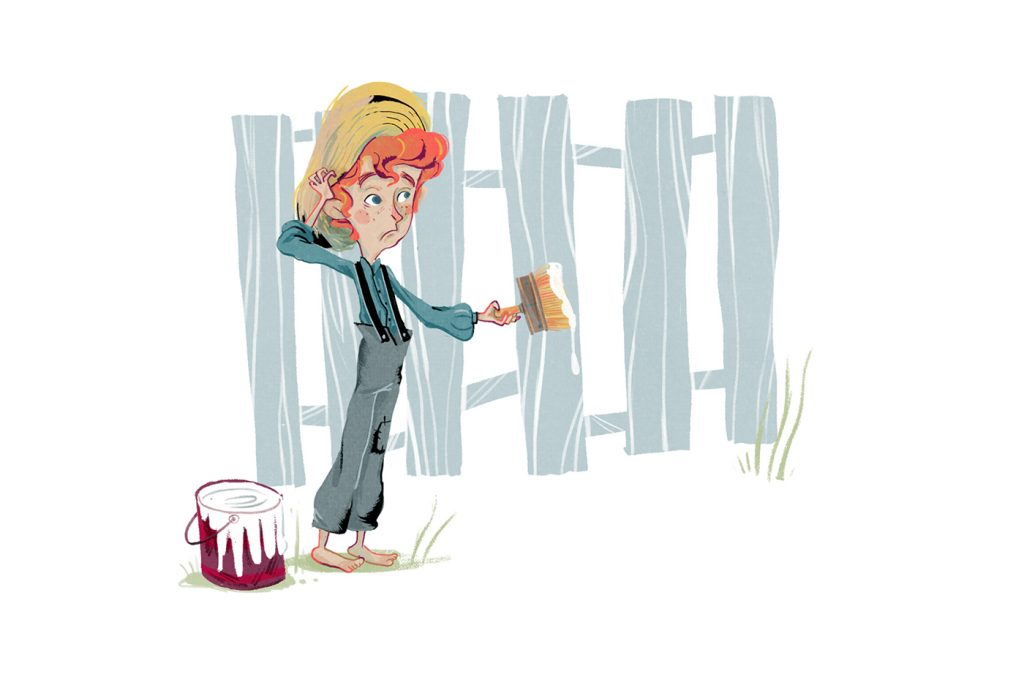 Children Book Illustration tom sawyer