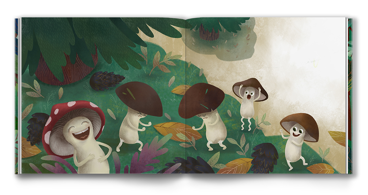 Children Book Illustration mushrooms