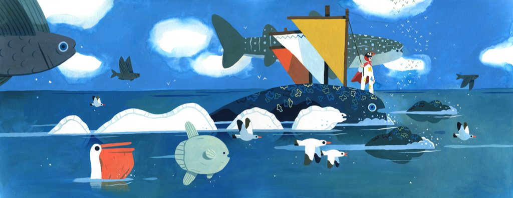 Children Book Illustration antarctic