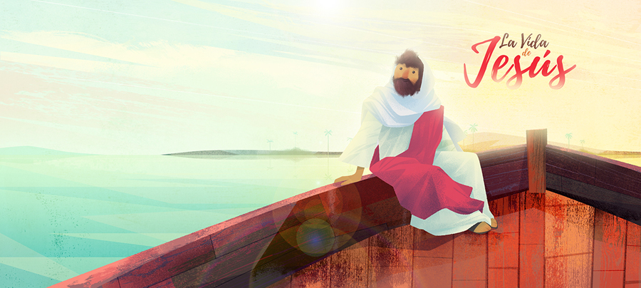 Children Book Illustration jesus