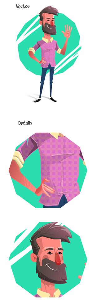 modern flat design character